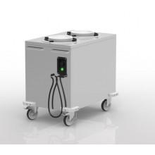 Chariot pour distribution assiettes chaudes